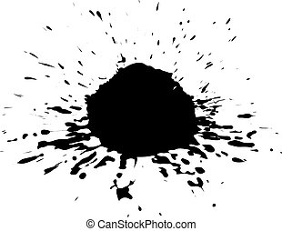 Vector Ink Blotch Design Element - Vector Ink Blotch Can Be...
