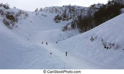 Ski slopes in Rosa Khutor Alpine Resort - Ski slopes in the...