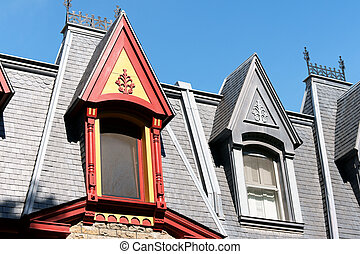 Victorian houses in Montreal, Canada - Colorful victorian...