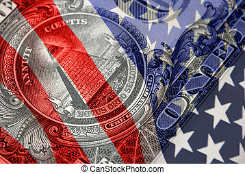Red, White, and Blue Financial Symbols - Reverse of the...