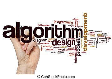 Algorithm word cloud - Algorithm concept word cloud...