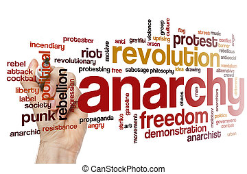Anarchy  word cloud - Anarchy word cloud concept