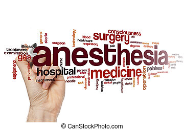 Anesthesia word cloud concept