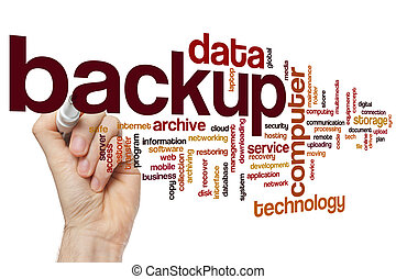 Backup word cloud - Backup concept word cloud background