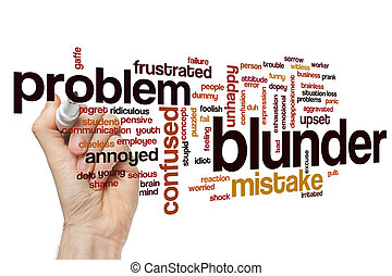 Blunder word cloud concept - Blunder word cloud