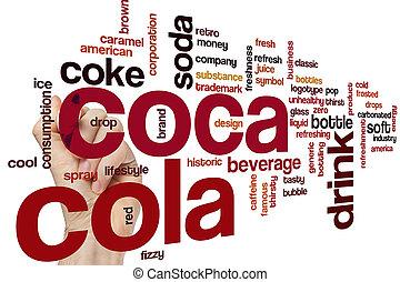 palavra,  coca, nuvem,  cola