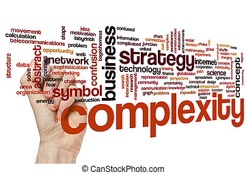 Complexity word cloud - Complexity concept word cloud...