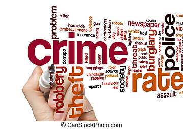 Crime rate word cloud - Crime rate concept word cloud...
