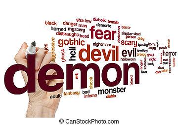 Demônio, palavra, nuvem