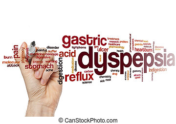 Dyspepsia word cloud concept