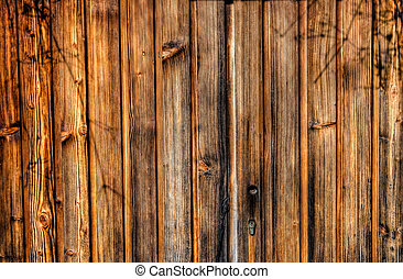 Wood Texture - HDR photo of an old wooden door