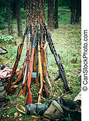 Soviet and German rifles of World War II - SVT 40 -...