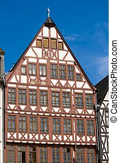 Half-timbered Architecture - Traditional half-timbered house...