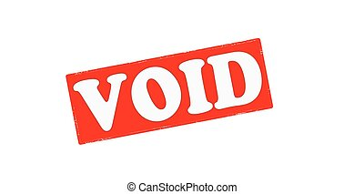 Void - Stamp with word void inside, vector illustration