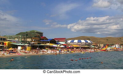 Picturesque Beach With Campers In Koktebel - In the frame...