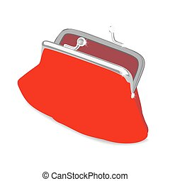 Beautiful vector purse Isolated on white Vector illustration...