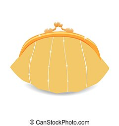 Beautiful vector purse. Isolated on white. Vector...