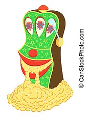 Slot machine - The cheerful slot machine, with pleasure...