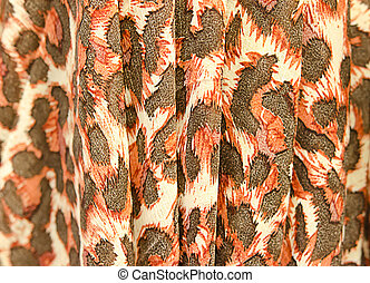 Tiger pattern fabric - Leopard skin texture for background