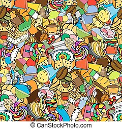Seamless pattern Set of confectionery
