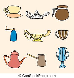 Vector set of Kitchen tool collection