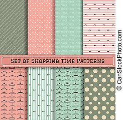 Set of Shopping Time Patterns - Set of Pattern hanger...