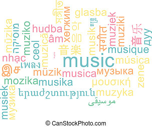Music multilanguage wordcloud background concept -...