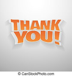 3D thank you - 3D words thank you Illustration text for...