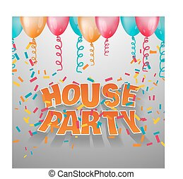 House party card invitation.