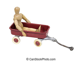 Child in a toy wagon - Child in a wagon brings back memories...