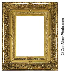 Frame wooden detailed ornate and gilded for canvas or mirror...