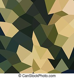 Dark Olive Green Abstract Low Polygon Background - Low...