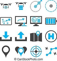 Drone control icon set