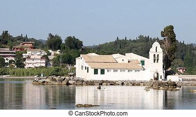 Vlacherna monastery Pontikonisi Corfu Greece