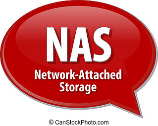 NAS acronym definition speech bubble illustration - Speech...