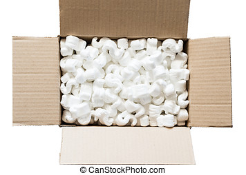 Polystyrene for the protection of fragile packages