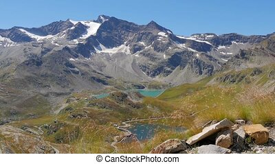 alpine landscape in summer - beautiful alpine panorama in a...