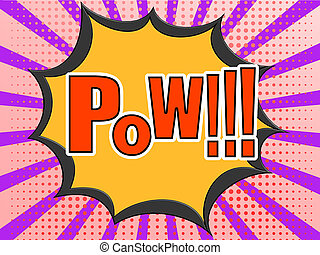 Pow Comic Speech Bubble - Pow comic speech bubble image with...