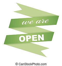 sticker we are open - this is sticker we are open