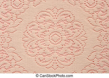 soft lace doily on pink - beige lace doily on pink useful...