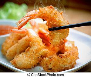 frito, camarón,