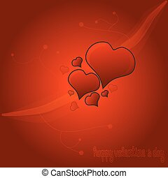 Red Valentine Heart Background