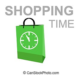 shopping time - this is illustration shopping time