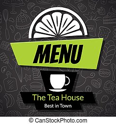 Modern Tea House Menu Card Design template - Modern Tea...