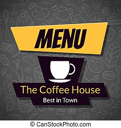 Modern Coffee House Menu Card Design template - Modern...