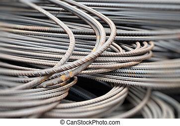 Closeup image of iron rod