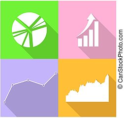 set of graph icons