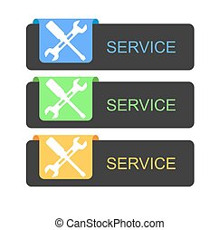 service buttons - These are service buttons three colors