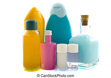 Bath products - Different kind of bath products isolated...