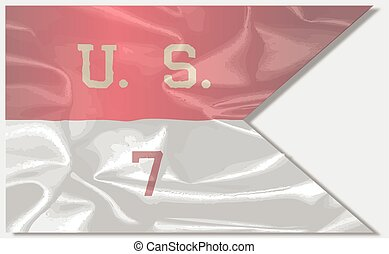 7th Cavalry Silk Flag - The banner of the US 7th Cavalry...